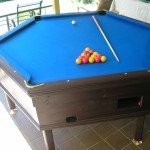 Hexagonal Pool Table Party Hire